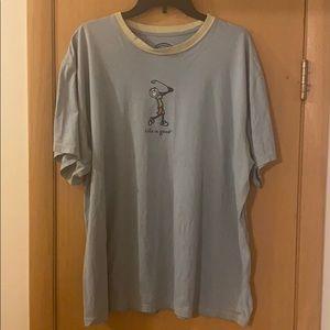 Life is Good Golf T-Shirt Blue Size XL